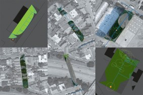 Under-utilized parcels of city-owned land in San Francisco, re-imagined by Nicholas de Monchaux as part of his Local Code / Real Estates project, 2009. Image: Courtesy Nicholas de Monchaux