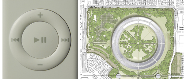 Apple remote control and new headquarters campus