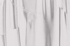 Sara VanDerBeek. Western Costume, Black Satin (Day), 2011, detail. Courtesy of the artist and Altman Siegal Gallery