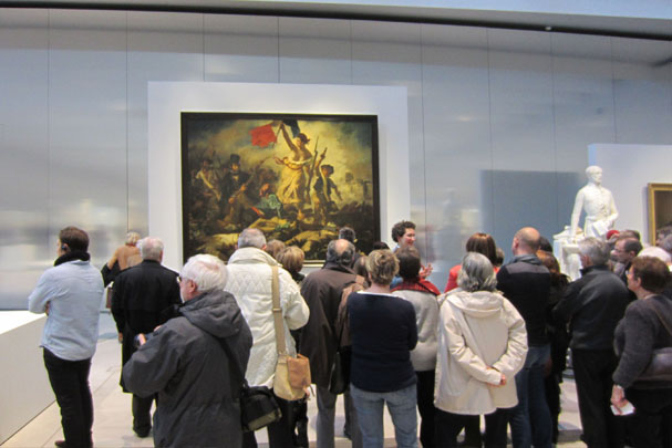 "Delacroix's ""Liberty Leading the People"" at the terminus of the Louvre-Lens' grand gallery. (Photo by Richard Ingersoll.)"