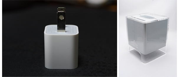 Apple G4 Cube and USB power adapter