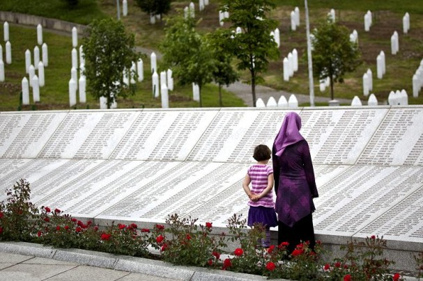 The Srebrenica and Potocari memorial for the Srebrenica dead in Bosnia.  Photo by Peter Nicholls.